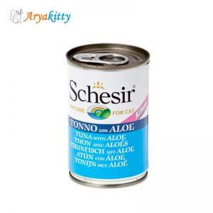 کنسرو ماهی تن و آلوورا مخصوص بچه گربه - schesir tuna with aloe