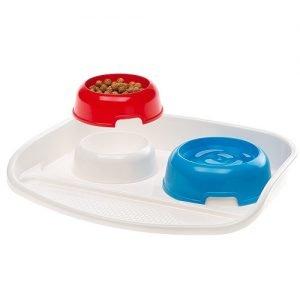 سینی دوظرفی آب و غذای گربه