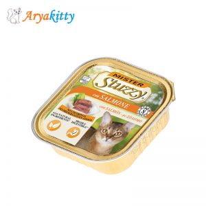 غذای گربه استوزی حاوی ماهی سالمون