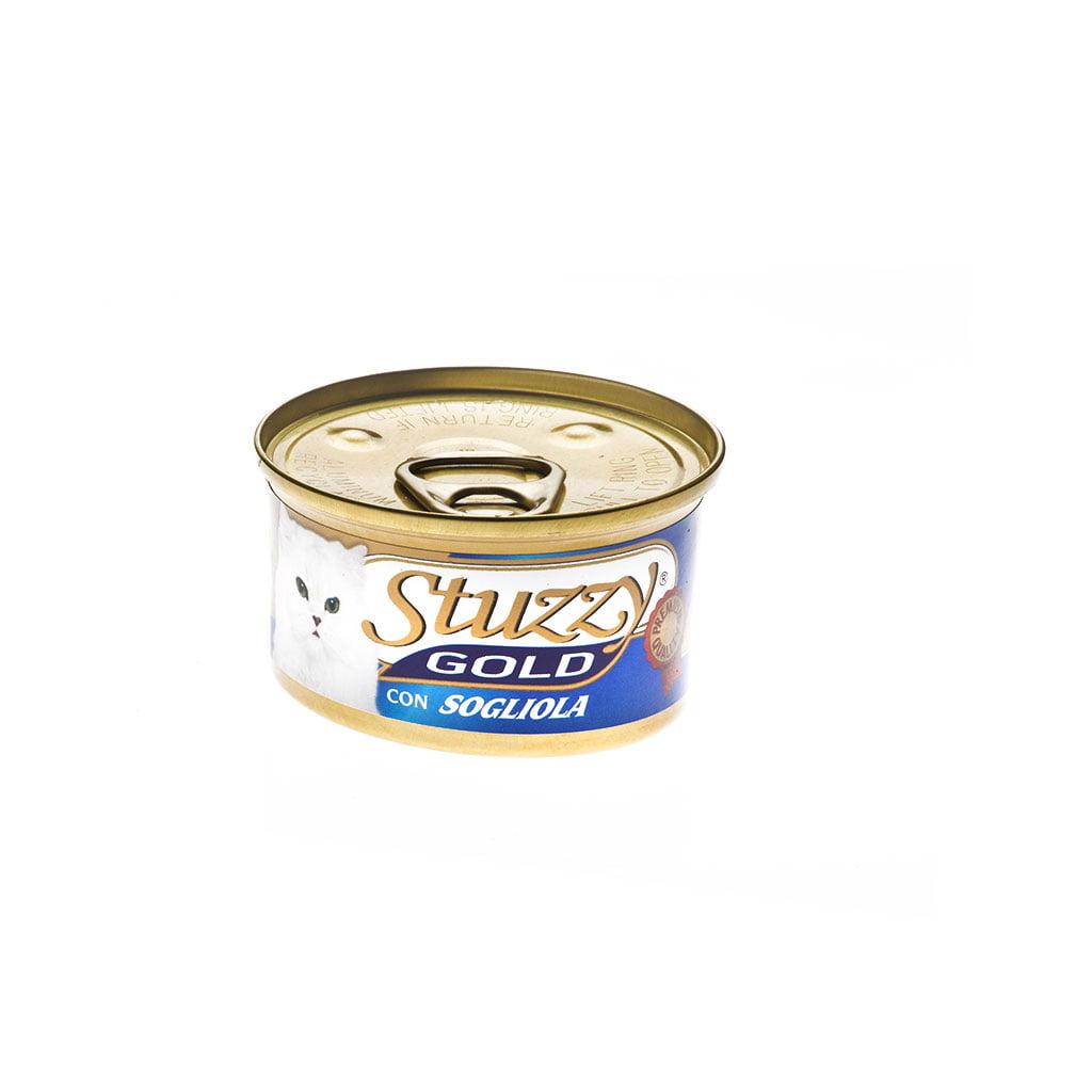 کنسرو مخصوص گربه حاوی ماهی سل - stuzzy gold with sole