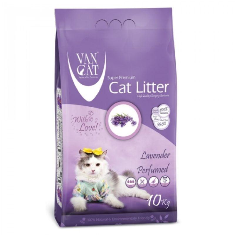 خاک گربه ون کت با رایحه لاوندر - van cat litter