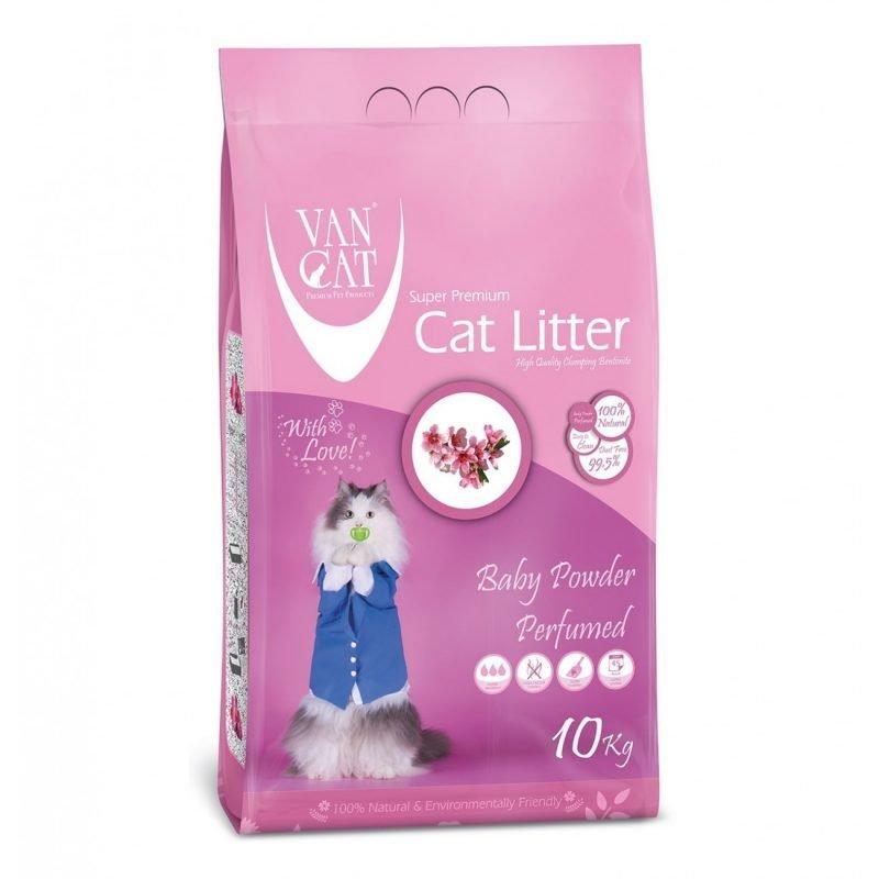 خاک گربه ون کت با رایحه پودر بچه - van cat baby powder litter
