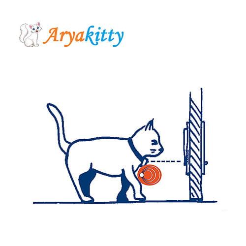 تردد مغناط - درب تردد گربه مغناطیسی