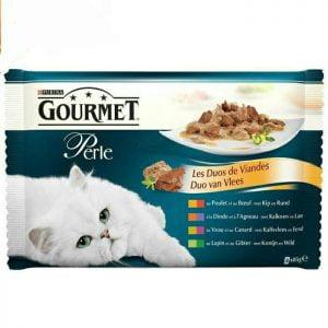 غذای گربه گورمه پرل میکس گوشت در سس - gourmet perle