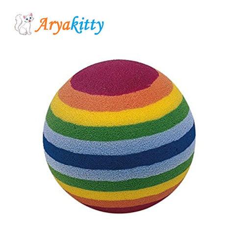 Rainbow Ball - اسباب بازی گربه توپ رنگین کمان 2تایی