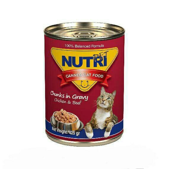 کنسرو گربه مرغ و بیف نوتری - nutri chiken & beef