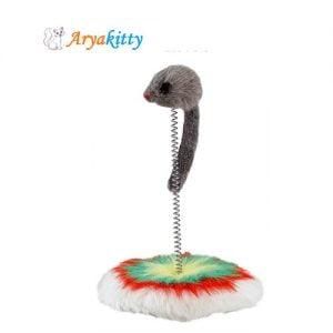 اسباب بازی گربه موش با فنر فلزی - ferplast cat toy