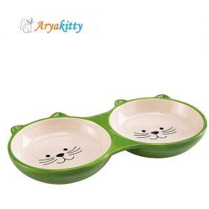 ظرف دوقلوی آب و غذای گربه ایزار - ferplast izar