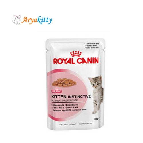 پوچ بچه گربه 4 تا 12 ماه در گوشت - royal canin kiten instinctive
