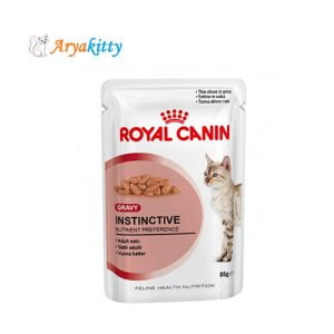 پوچ گربه بالغ در گوشت - royal canin instinctive