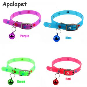 Silicone Floral font b Cat b font Collar Bell Collar Flower Puppy Dog Collar font b 1 300x300 - زنگوله گربه کارلی فلامینگو