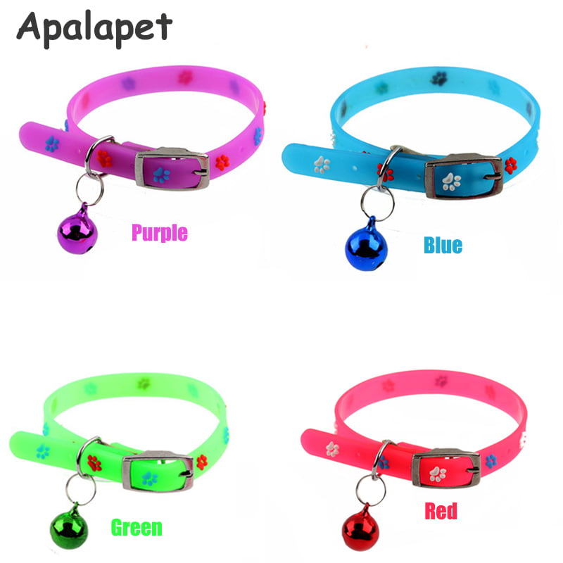 Silicone Floral font b Cat b font Collar Bell Collar Flower Puppy Dog Collar font b 1 - زنگوله گربه کارلی فلامینگو