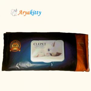 دستمال مرطوب مخصوص گربه CLEPET