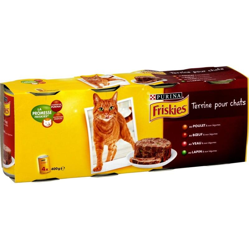 کنسرو گربه فریسکیس 4 طعم گوشت در غلات