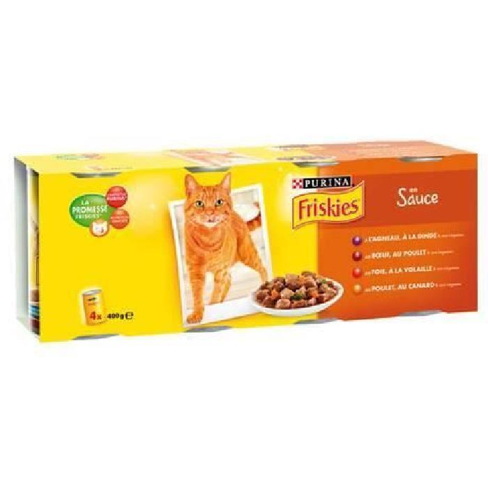 کنسرو گربه فریسکیس 4 طعم گوشت در سبزیجات - friskies sauce