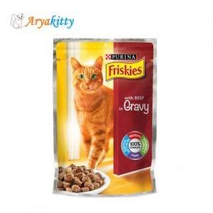 پوچ گربه حاوی بیف Friskies