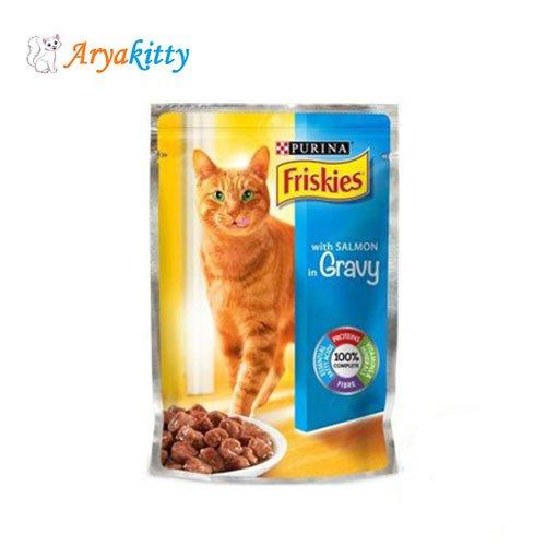 پوچ گربه حاوی سالمون Friskies
