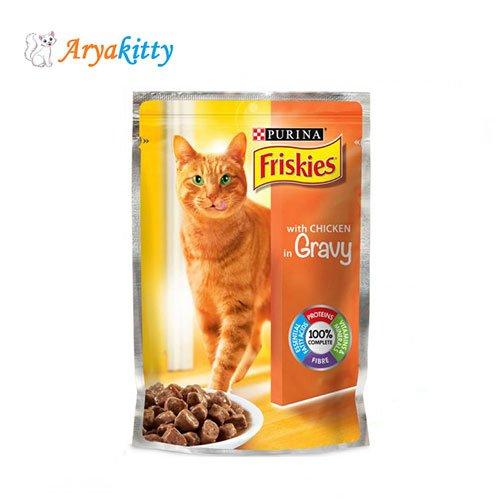 پوچ گربه حاوی مرغ Friskies