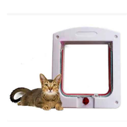 درب تردد گربه با قفل چهار حالته