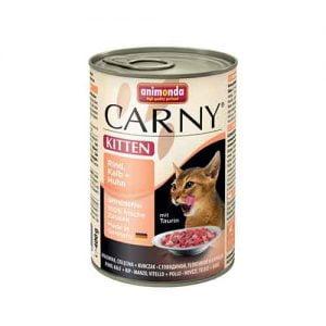 کنسرو بچه گربه حاوی گوشت قرمز و مرغ - animonda carny kitten