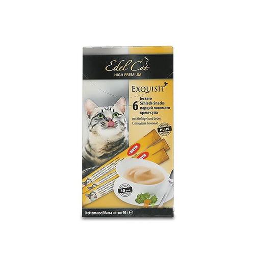 بستنی گربه ادل حاوی مرغ و کبد - edel cat exquisit