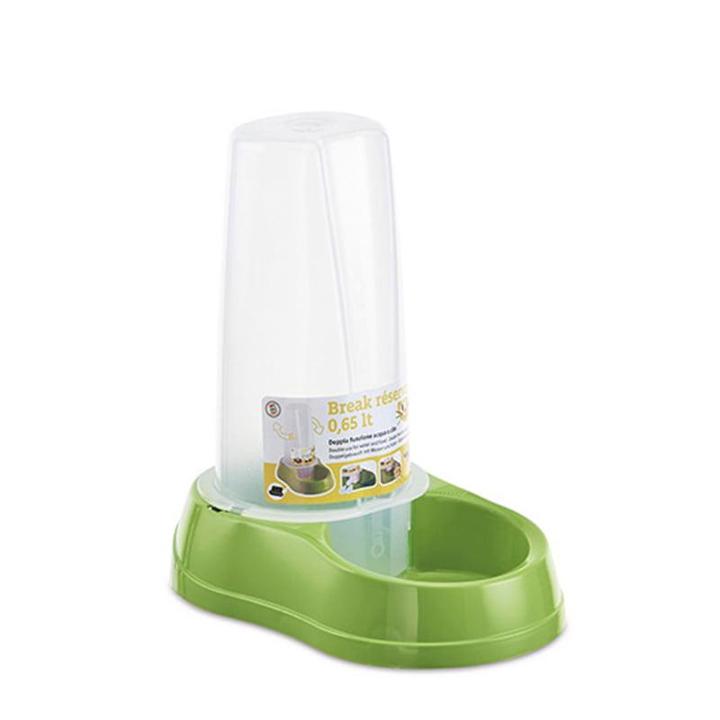 ظرف آب و غذای مخزن دار استفان پلاست 0.65 لیتر Stefanplast