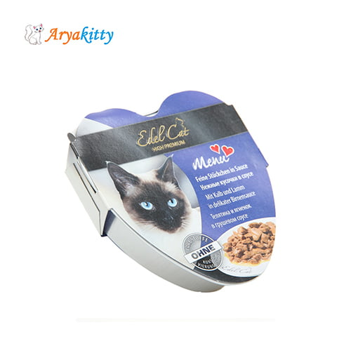 خوراک گربه ادل حاوی گوشت بره و گوساله - edel cat