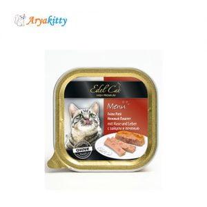 خوراک گربه ادل حاوی گوشت خرگوش و جگر - edel cat