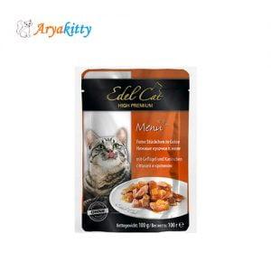 پوچ گربه ادل با گوشت خرگوش و مرغ - edel cat