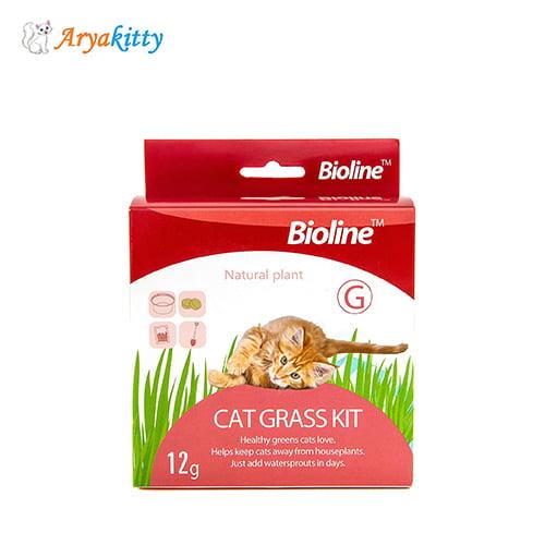 کیت علف گربه بایولاین - bioline cat grass kit