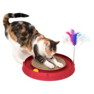 اسباب بازی گربه هوشی مقوایی پردار