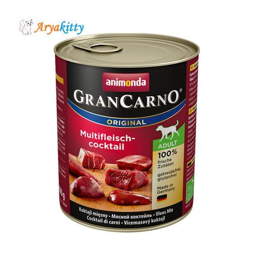 کنسرو انواع گوشت مخصوص سگ بالغ گرن کارنو