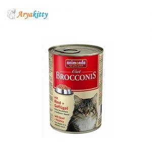 کنسرو گربه انیموندا با مرغ و گوشت گاو
