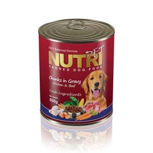 کنسرو گوشت نوتری مخصوص سگ Nutri