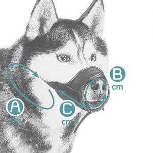 پوزه بند قابل تنظیم سگ Ferplast 3