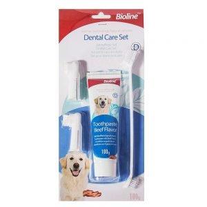 مسواک و خمیر دندان سگ Bioline 300x300 - سگ