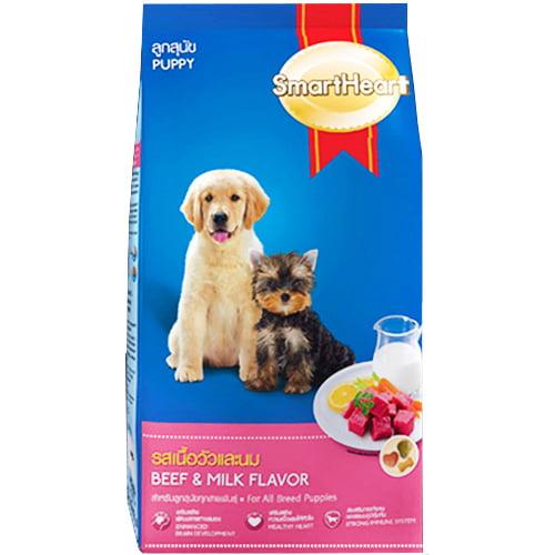 غذای خشک توله سگ اسمارت با طعم شیر و جگر