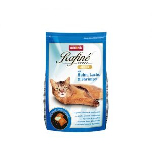 غذای گربه رافینه با طعم مرغ ماهی و میگو - animonda rafine