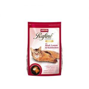 غذای گربه رافینه با طعم گوشت گاو بره و خرگوش - animonda rafine