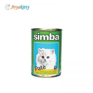 کنسرو گربه پته حاوی خرگوش simba