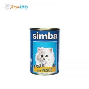 کنسرو گربه پته حاوی ماهی simba