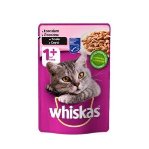 پوچ گربه ویسکاس با طعم سالمون