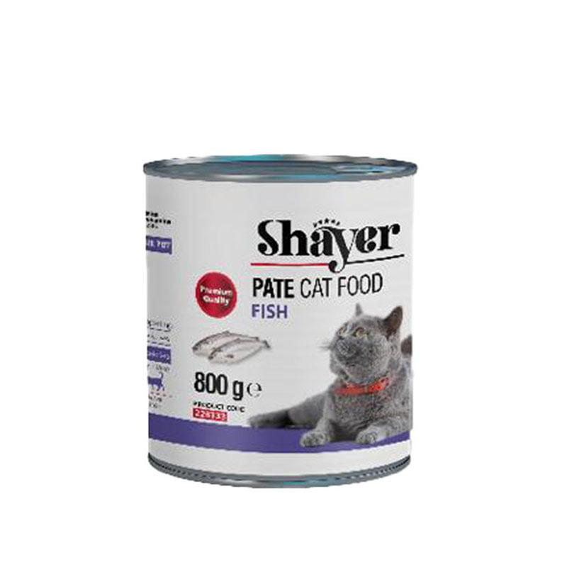 کنسرو گربه شایر حاوی ماهی 800 گرمی