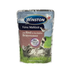 پوچ گربه وینستون گوشت در سس