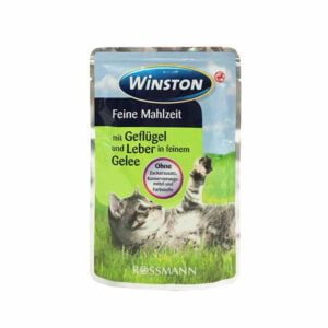 پوچ گربه وینستون مرغ و جگر در ژله